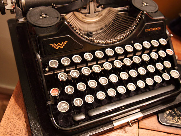 old typewriter by Petr Kratochvil